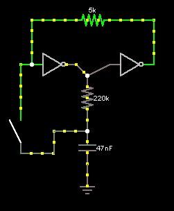 two-inverter momentary toggle